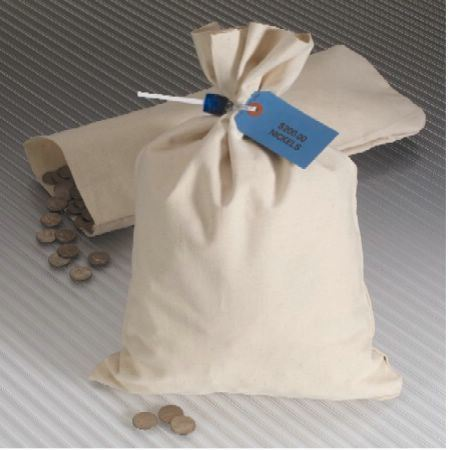 Canvas Coin Bag 8.5 x 14 - Click here for bulk pricing as low as $1.16 per bag!