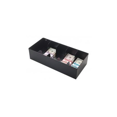 5 Compartment Currency Tray Black