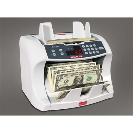 Semacon Series S-1200 Bank Grade Currency Counter S-1225 - UV & MG Counterfeit Protection
