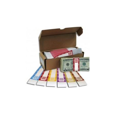 White Kraft Currency Straps General Bank Supply