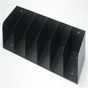 "Counter Check Separators - Black Six Compartments - 24.25""W x 4""H x 8""D"